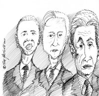 Presidenti Obama, Sarkosy, Brown